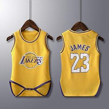 Rehot Bebé Bodies Unisex - NBA Jordan 23/Curry 30/James 23/Irving 11 Camisetas de Baloncesto Sin Mangas para Bebés Niño & Niña Mamelucos Playsuit, ...