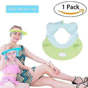 ef855e50913 Baby Shower Cap - Baby Adjustable Shower Bathing Visor - Hair Wash Eye Ear  Protection Shield