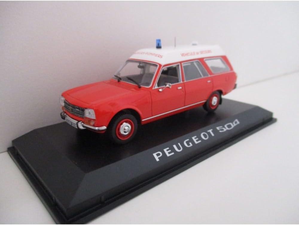 Feuerwehr Krankenwagen 1:43 Peugeot 504 Break 1979 Pompiers Ambulance