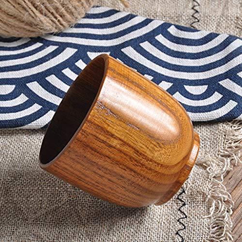 Clothful  Natural Wooden Cup Wood Coffee Tea Beer Juice Milk Water Mug - Shirt Show Sleeve Long Elegance
