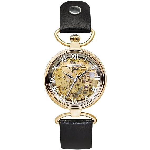Zeppelin 7459-5 - Reloj de mujer automático, correa de piel color negro