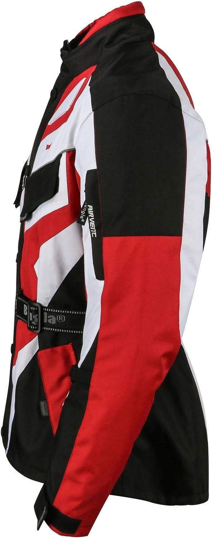 Ledershop-online Bangla 1535 Kinder Motorradjacke Touren Jacke Cordura 600 Textil Schwarz-Weiss 128 140 152 164