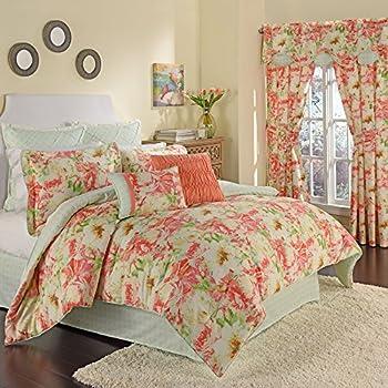 Amazon Com Waverly Imperial Dress Porcelain King Comforter Set Home Amp Kitchen