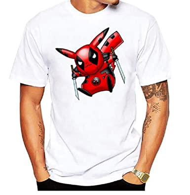 a137a4c7 Tunsechy Pikachu Deadpool Printed Tee T Shirt Soft and Comfortable –  Available in S M L XL XXL
