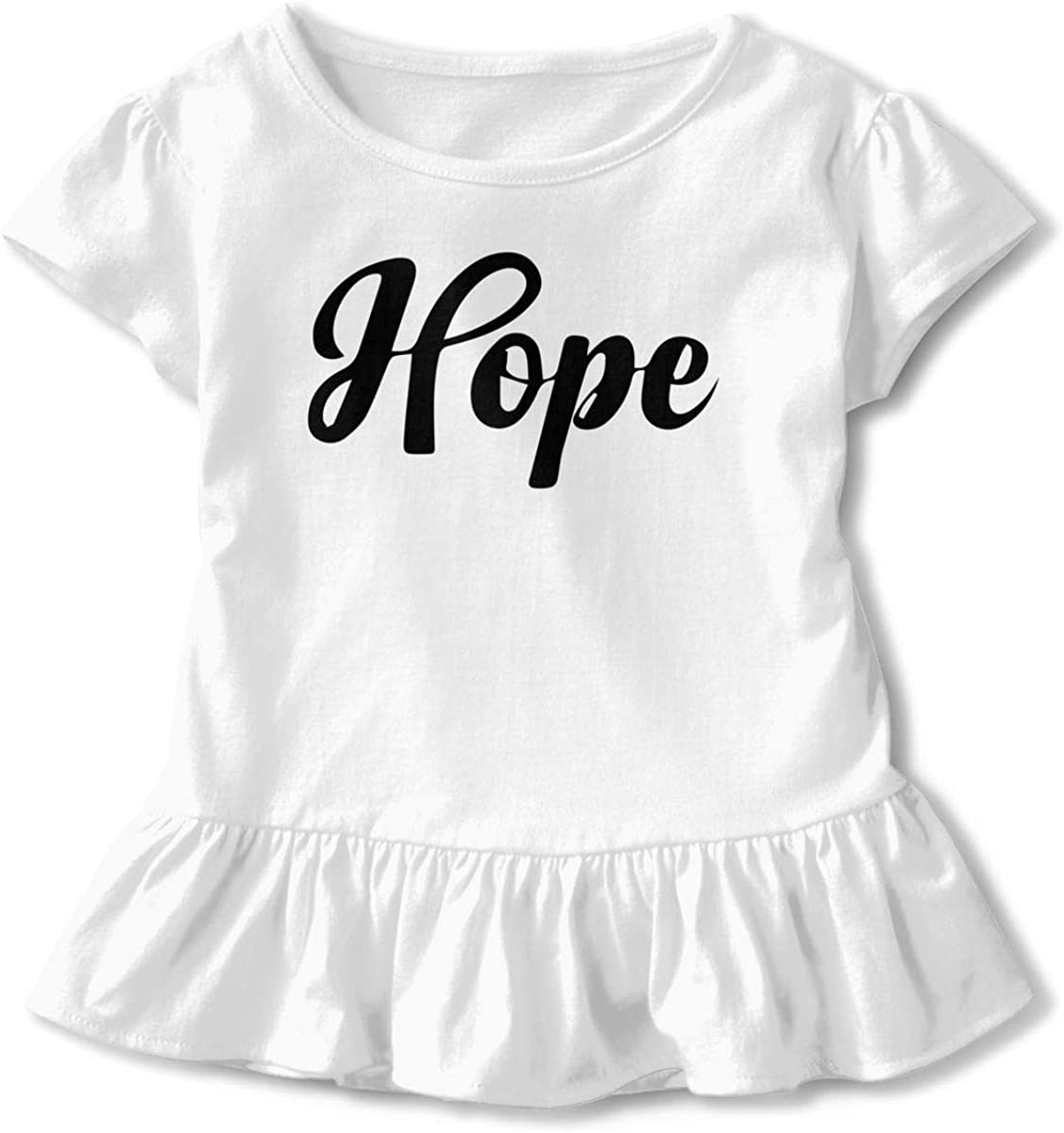SC/_VD08 Breast Cancer Hope Baby Girls Short-Sleeved Tshirts Clothing