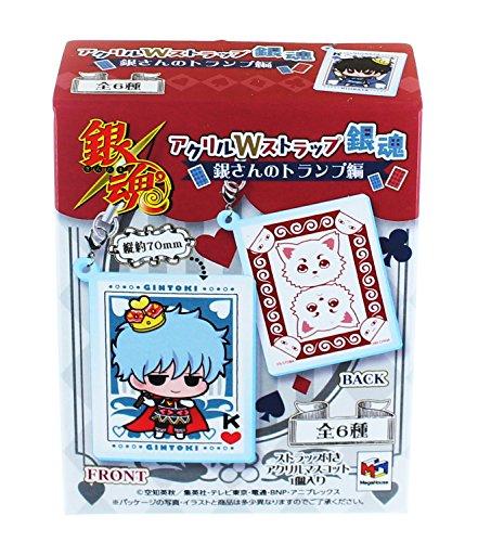 アクリルWストラップ 銀魂 銀さんのトランプ編 6個入りBOX