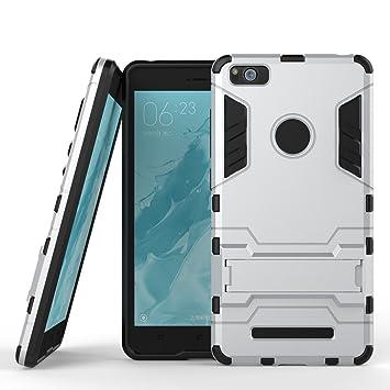 Funda para Xiaomi Mi 4i / Mi 4C (5 Pulgadas) 2 en 1 Híbrida Rugged Armor Case Choque Absorción Protección Dual Layer Bumper Carcasa con Pata de Cabra ...