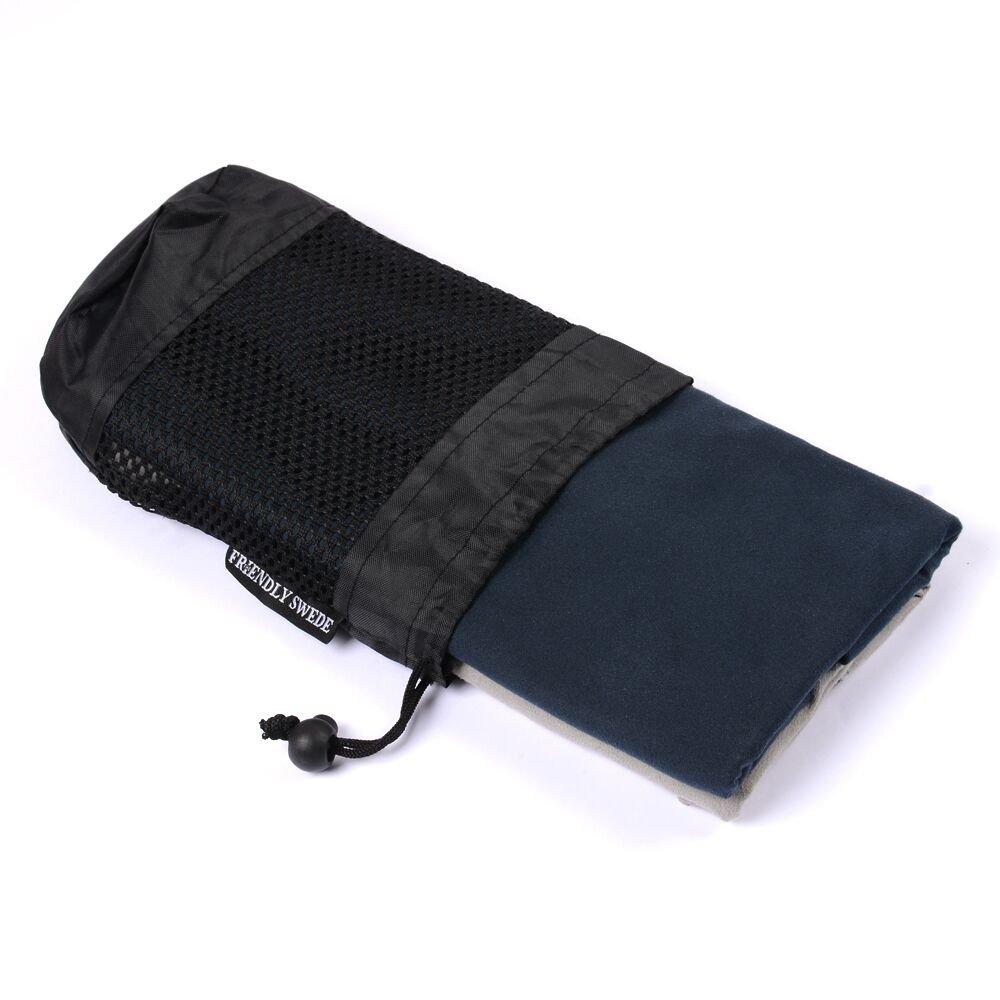 The Friendly Swede Ultraligero y compacto de viaje y deporte Toallas secado rápido, microfibra, 2 unidades, con 2 bolsas de transporte de malla: Amazon.es: ...