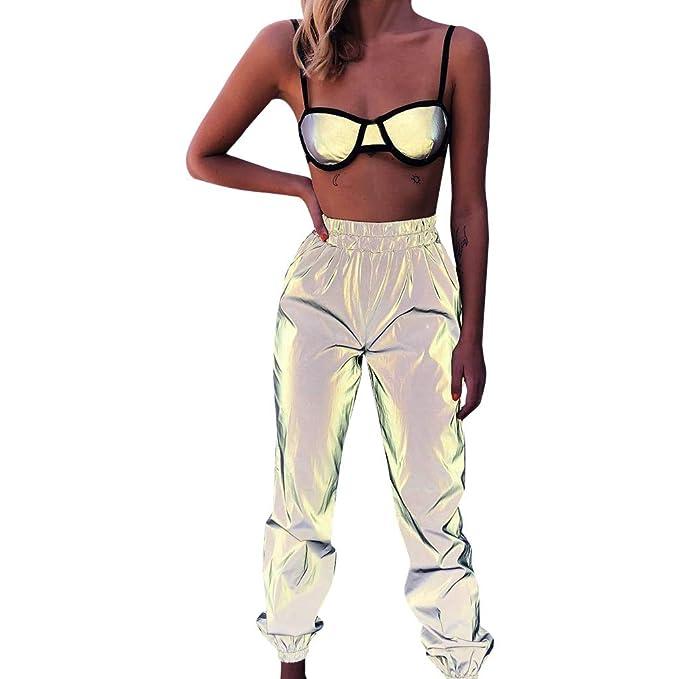 riou Pantalon Chandal Mujer Largos Pantalones de Deporte Yoga ...