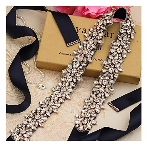 - Yanstar Handmade Beads Wedding Belt Sashes Bridal Belt Sash With Rhinestones
