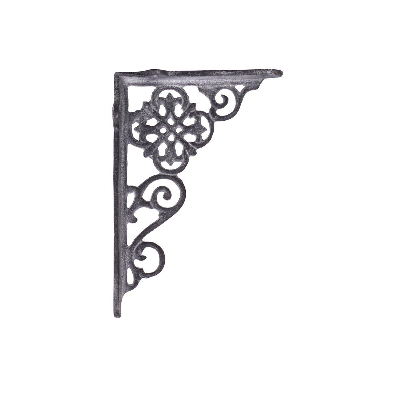 Antiklook grau Wandkonsole franz/ösisches Muster Blume Regaltr/äger
