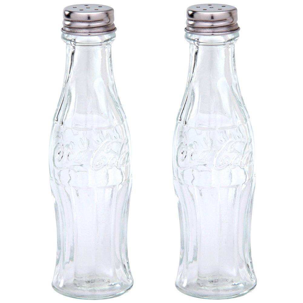 UK-Import]Coca Cola Glass Salt & Pepper Shakers: Amazon.de: Küche ...