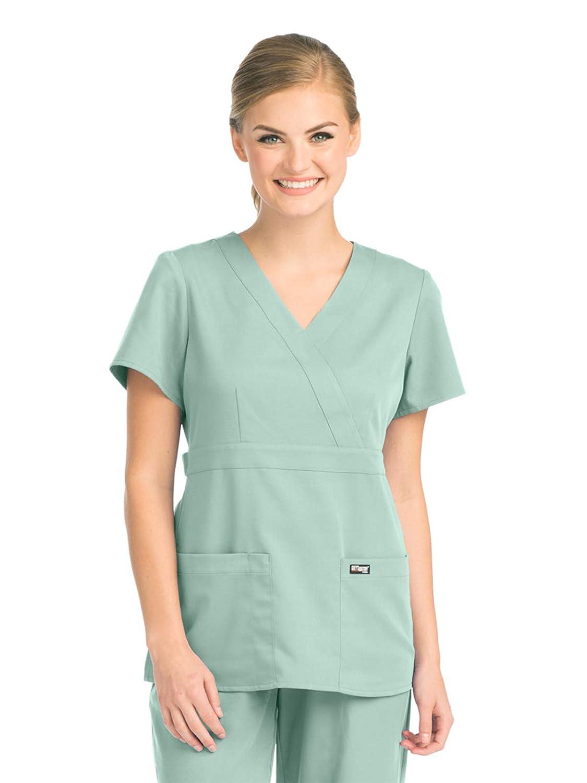 Amazon.com: Barco - Grey\'s Anatomy 4153 Women\'s Mock Wrap Scrub Top ...
