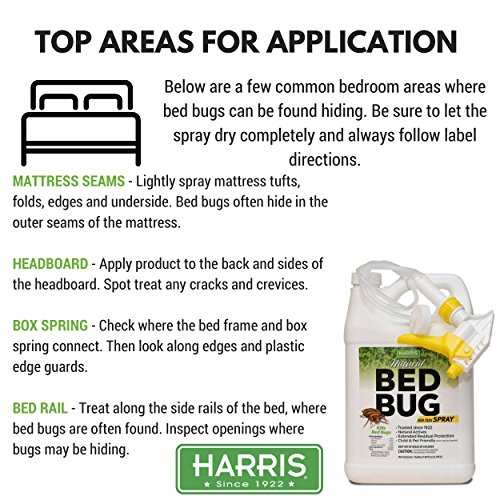 Harris Natural Bed Bug Killer, Fast Acting Non-Toxic Spray with Extended Residual (Gallon) by Harris (Image #3)