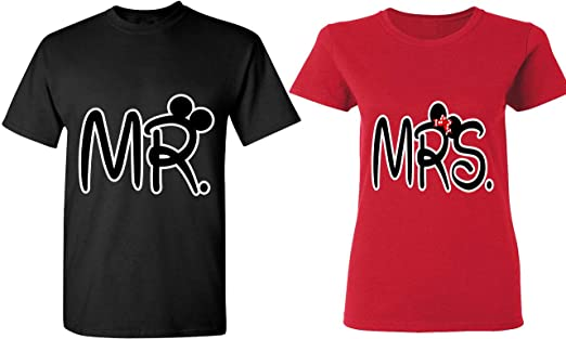 67455799e6 Mr. & Mrs - Matching Couple Shirts - His and Her T-Shirts -