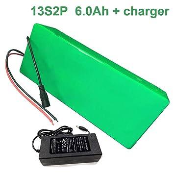 Amazon.com: 48V 6Ah 13S2P 18650 Li-ion Batería Pack E-Bike ...