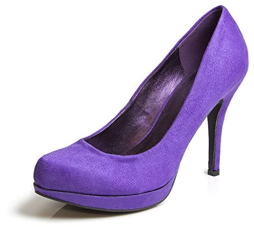 03c056a61be6 Sueded Purple 4 quot  Heel Shoes ...