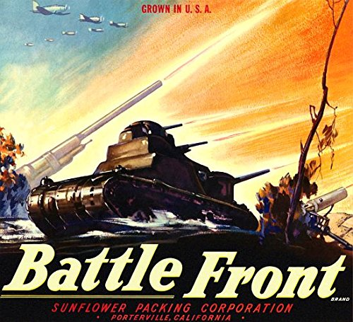 Battle Front Tank and Guns shooting poster (36 x 54)