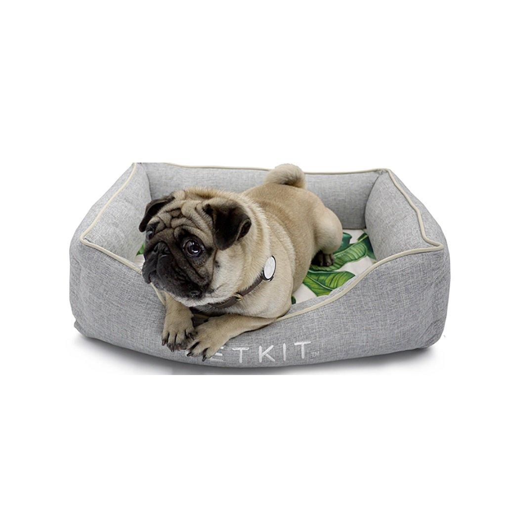 GJ@ + Pet Kennel Cat Nest Desmontable y Lavable Cuatro Estaciones ApplySmall Perro Cama Mat Dog Room (Gris) 90 * 68 * 21cm ##: Amazon.es: Hogar
