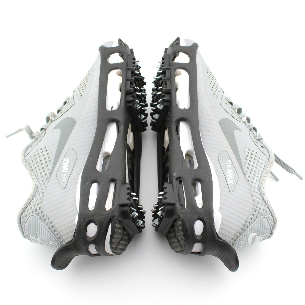 ODIER Shoe Ice Cleats 24 Teeth Ice Grippers 10 Teeth Cleats Shoes Designed for Walk on Ice Snow and Freezing Mud Ground Must Have Accessories for Outdoor Sports Activity Accessory