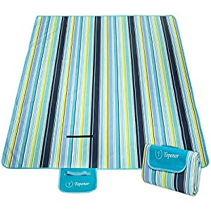 ZOMAKE Picnic BlanketWaterproof Portable Oversized 80 X 60 Inches Beach Mat