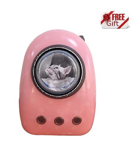 Ducomi® Lightyear Mochila rígida con ojo de buey para gatos y perros, máximo confort y ...
