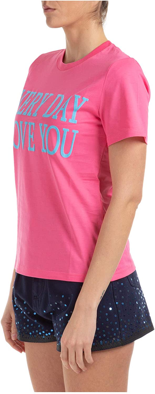 Alberta Ferretti Every Day i Love You t-Shirt Donna Rosa Rosa