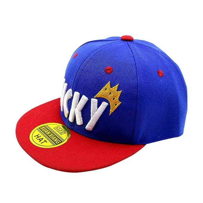 Niño Niña Gorra De Béisbol Lucky Letras De Algodón Bordado Hip Hop Sombreros para El Sol Ajustable Hat para Niños De Los Niños: Amazon.es: Ropa y accesorios