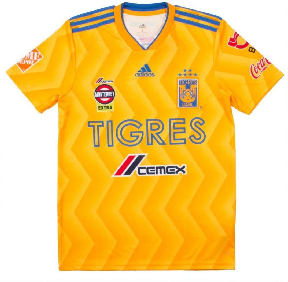 adidas 2018/19 Tigres UANL Home Jersey Large(Collegiate Gold/Bold Gold/Blue)