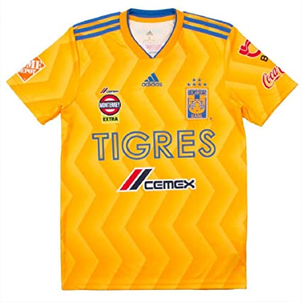 Amazon.com   adidas 2018 19 Tigres UANL Home Jersey Medium ... 4a7a34a68
