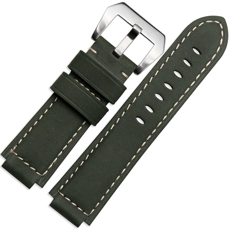 zhuolei本革時計バンド汎用for Timex t49859|t2 N720|t2p141|t2 N722|723|738|739 B077JYMBDZ light brown silver buckle
