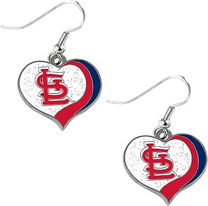 Final Touch Gifts St Louis Cardinals Bird Logo Earrings