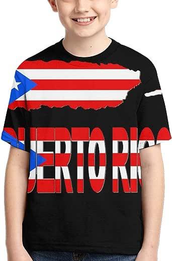 Amazon.com: Short-Sleeve Puerto Rico Map Flag T-Shirts for