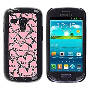 PC/Aluminum Funda Carcasa protectora para Samsung Galaxy S3 MINI NOT REGULAR! I8190 I8190N aloha palm tree sea summer ocean / JUSTGO PHONE PROTECTOR