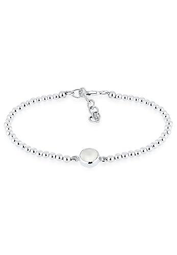 5d1b60f80601 Elli Damen-Armband 925 Silber Mondstein weiß Rundschliff 16 cm -  0211511616 16