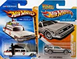 2010-2011 Hot Wheels Ghostbuster Ecto-1 and Back to the Future Delorean Time Machine