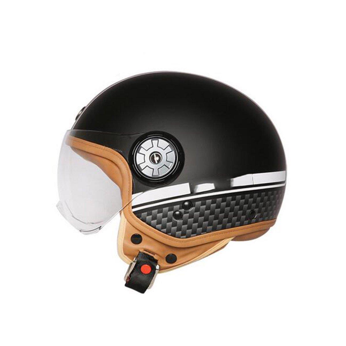 TZQ Half-coveROT Sonnencreme Dame Electric Auto Mode Persönlichkeit Männer Motorrad Wrestling Hut Helm
