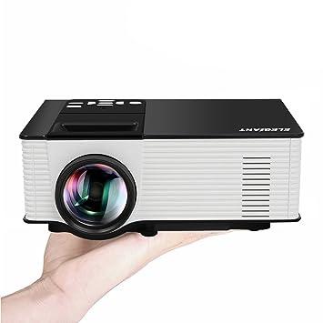 ELEGIANT Mini LED proyector 1080p Multimedia Teatro Casa con Mando ...