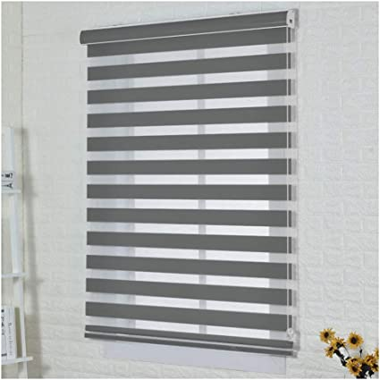 Xz15 Blackout Window Blinds Roller Shades Blinds Living Room Bedroom Sun Shade Window Curtain Adjustable Light 2 Colors Multiple Sizes Customizable Color Gray Size 150x160cm Amazon Co Uk Kitchen Home