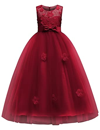 3D embroidery ball gown dress