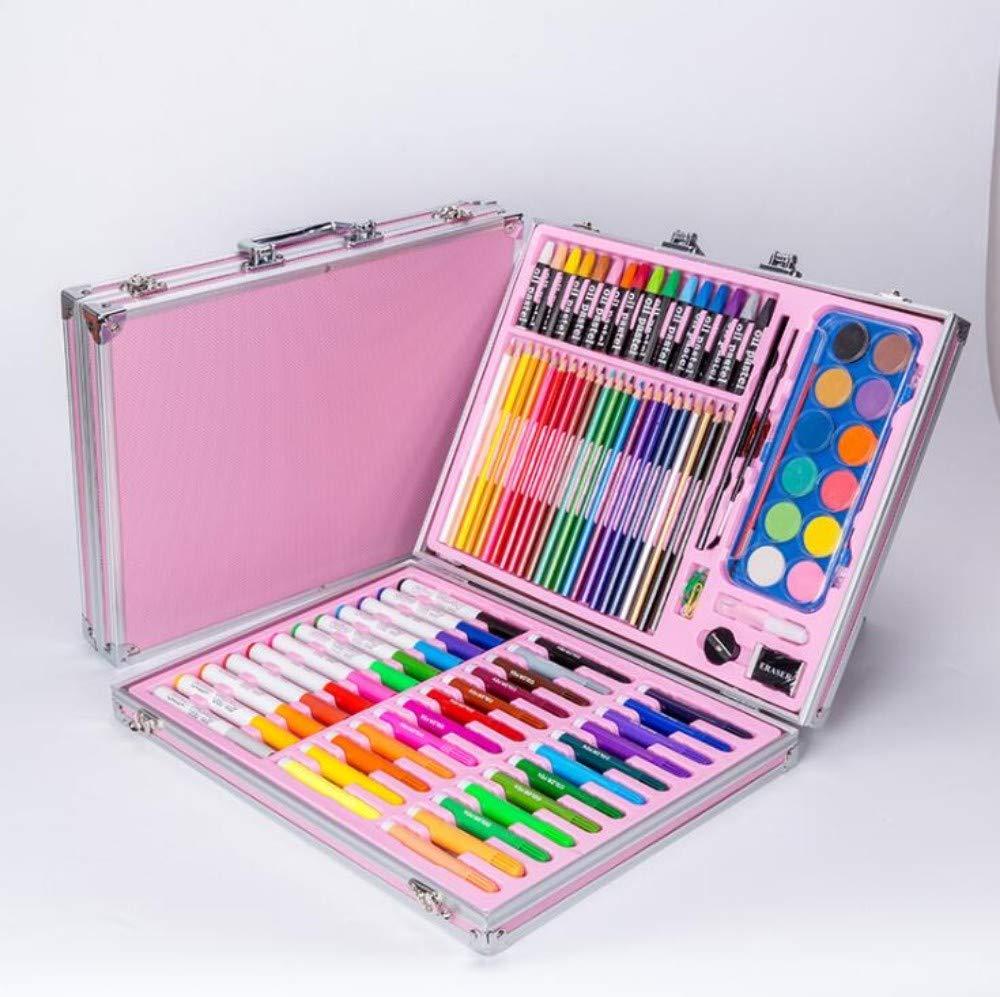 HQYDBB Kids Art Set, 120 Set di Pittura per Bambini per cancelleria, Combinazione di Attrezzi per la Pittura ad Acquerello per Scuola primaria, A