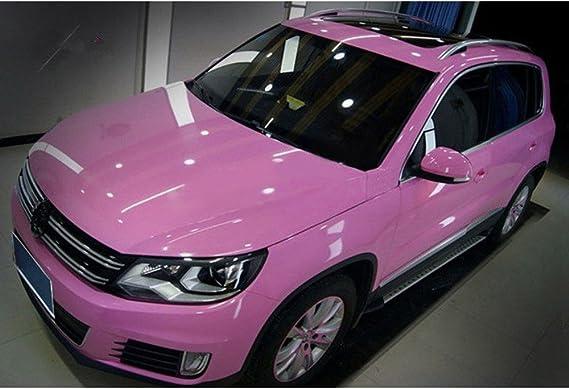 Hoho Pink Glänzend Wrap Vinyl Aufkleber Auto Fahrzeug Styling Folie Mit Air Bubble Frei 152 4 Cm X98ft Rolle Auto