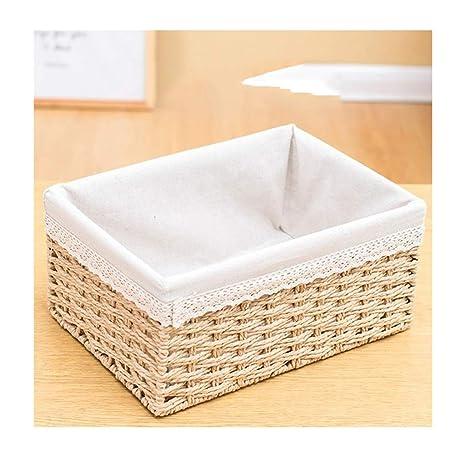Amazon.com: Straw Storage Basket Weaving Storage Basket ...