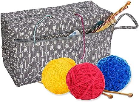 Mary Paxton - Bolsa de almacenamiento para hilos, grande, 11.8 pulgadas, para tejer agujas, bolsa de hilos,