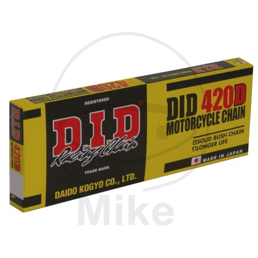 DID Kette 420 D, 134 Glieder (Standard), offen mit Clipschloss Daido Kogyo Co. LTD. 420DX134RB