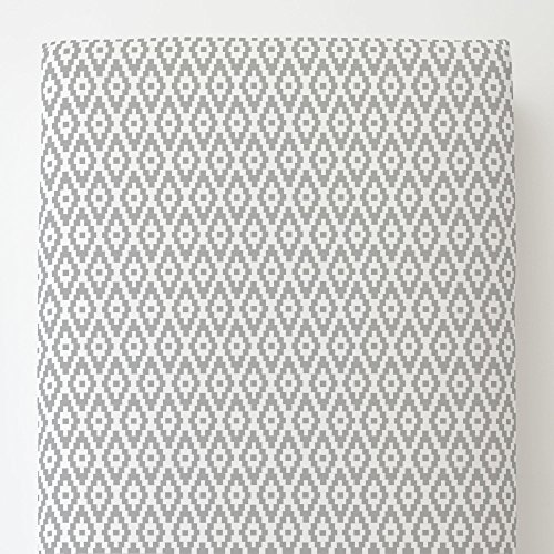 Carousel Designs Silver Gray Aztec Diamonds Toddler Bed Sheet Fitted