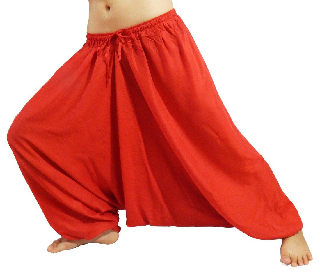 Lovely Creations Unisex Plus Size Baggy Aladdin Hippie Yoga Harem Casual Pants
