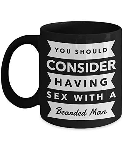 Having sex with a bearded man