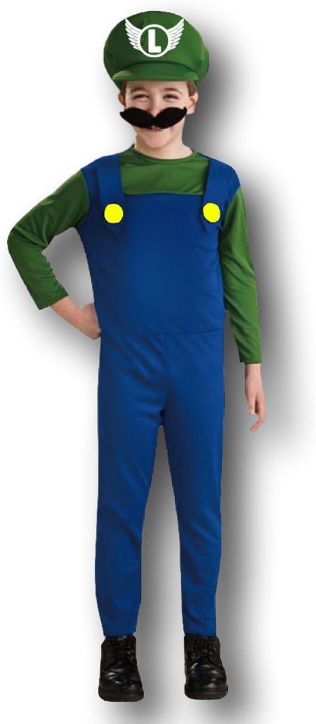 Rubber Johnnies - Disfraz de Luigi para niño, color azul y verde ...