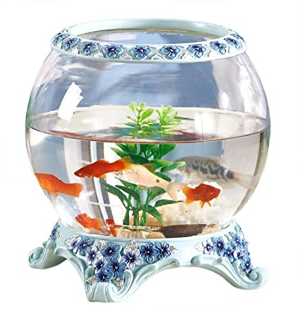Creative Goldfish Tank Glass Aquarium Office Desk Table Coffee Table